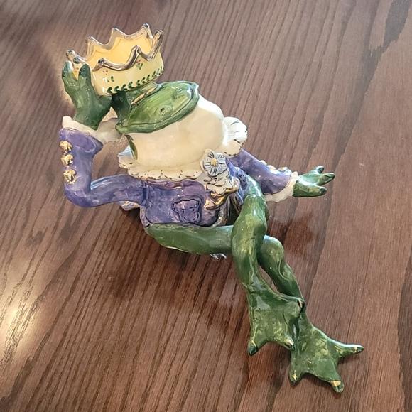 Frog Prince tealight holder